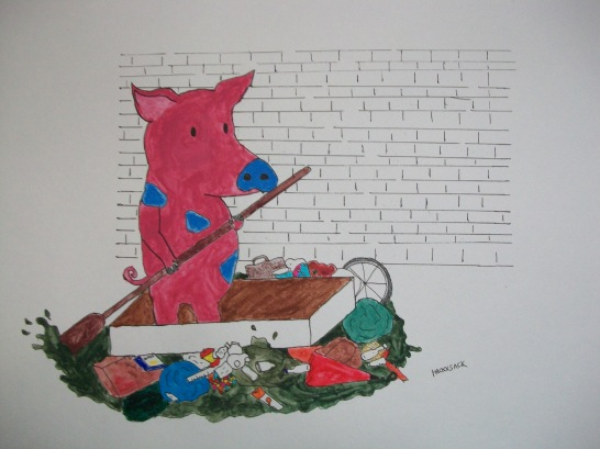 sewer pig's search for slop